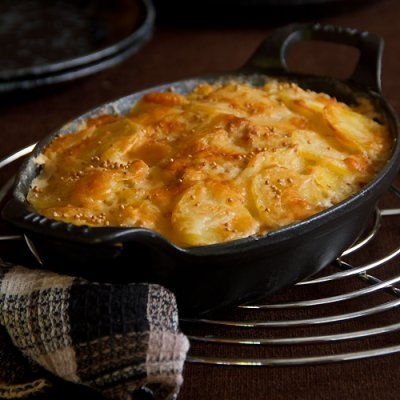 ... and Idaho Potatoes- Scalloped Potatoes with Endive & Mus