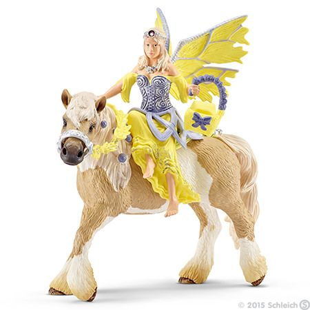 Schleich, Sera in festive clothes, riding