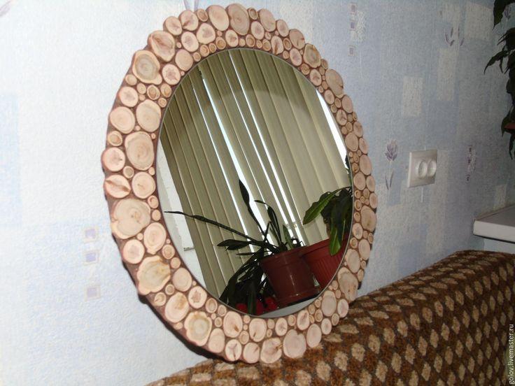 Купить Зеркало с рамой из можжевельника - зеркало настенное, зеркало ручной…