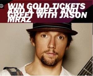 Win A Gold Tickets And Meet Jason Mraz