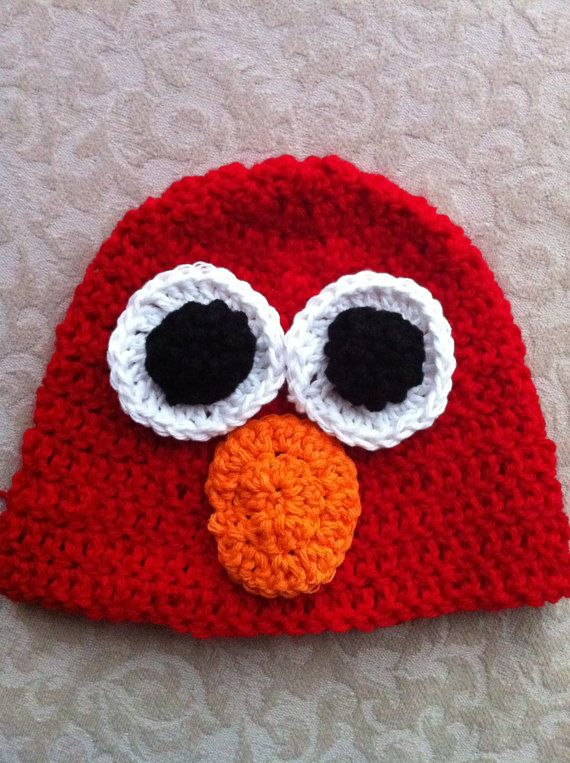 Free Crochet Pattern For Elmo Beanie : 318 best images about Hats and beanies on Pinterest Free ...