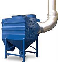 CARTRIDGE DUST COLLECTOR SAX EX - The principle of construction is exactly the same as the SaX dust collector, and the size ranges up to SaX 24. This SaX EX dust collector has explosion protection according to the ATEX Directive.