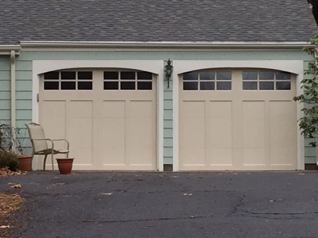Clopay Coachman In Almond Installed In Simsbury Ct In