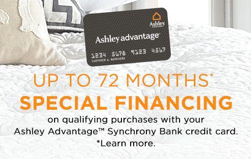 Ashley Furniture HomeStore Online Financing