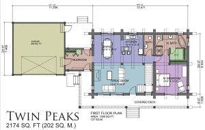 Twin Peaks - Jeremiah Johnson Log Homes