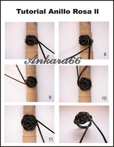 Cute wire wrapped rose ring tutorial!                              …