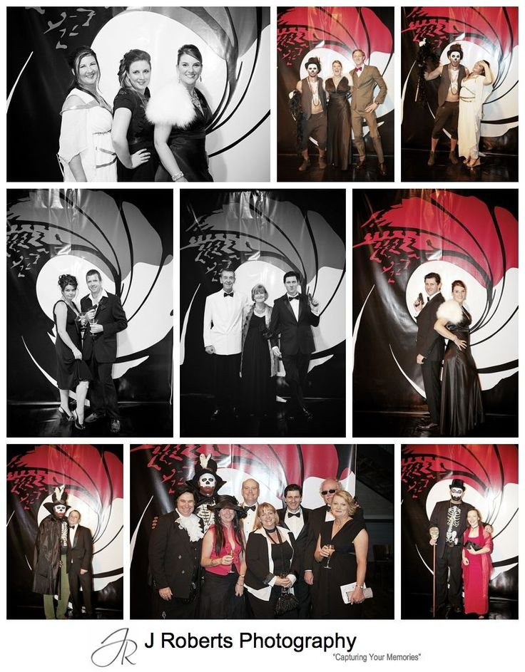 James bond wall photographs at party - sydney party photography