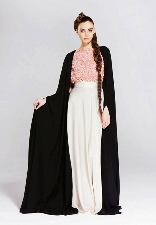 Stunning abaya #butterfly #pink #white #lace #feminine #arab #dubai #uae #jilbab #black #modesty