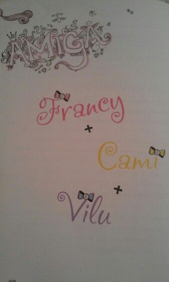Violetta-Naplóm egy évvel később. Fran,Cami,Vilu felirat.