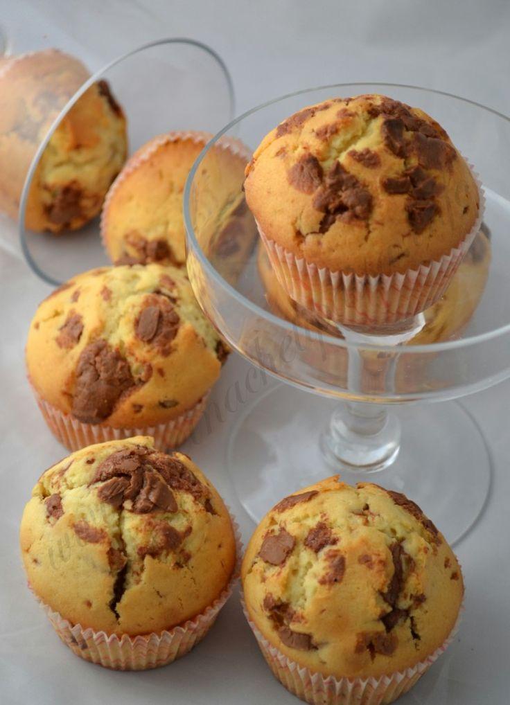muffin vaniglia gocce di cioccolato al latte