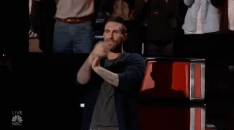 New party member! Tags: season 11 nbc the voice applause clapping adam levine good job well done slow clap