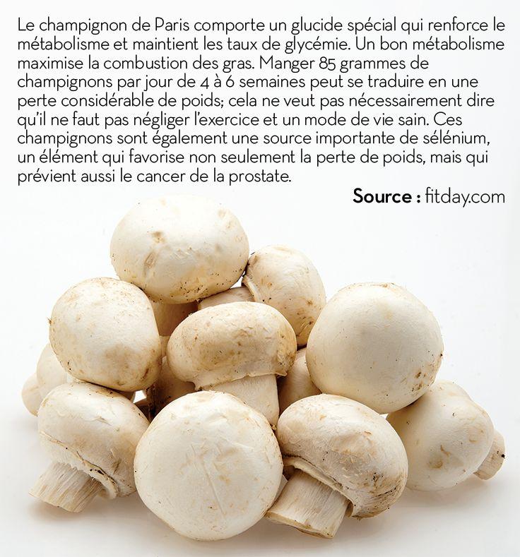 Les champignons de Paris favorisent la perte de poids et la prévention du cancer de la prostate