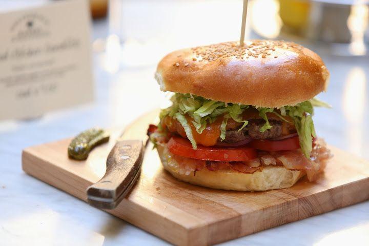 Our signature hamburger by California Bakery