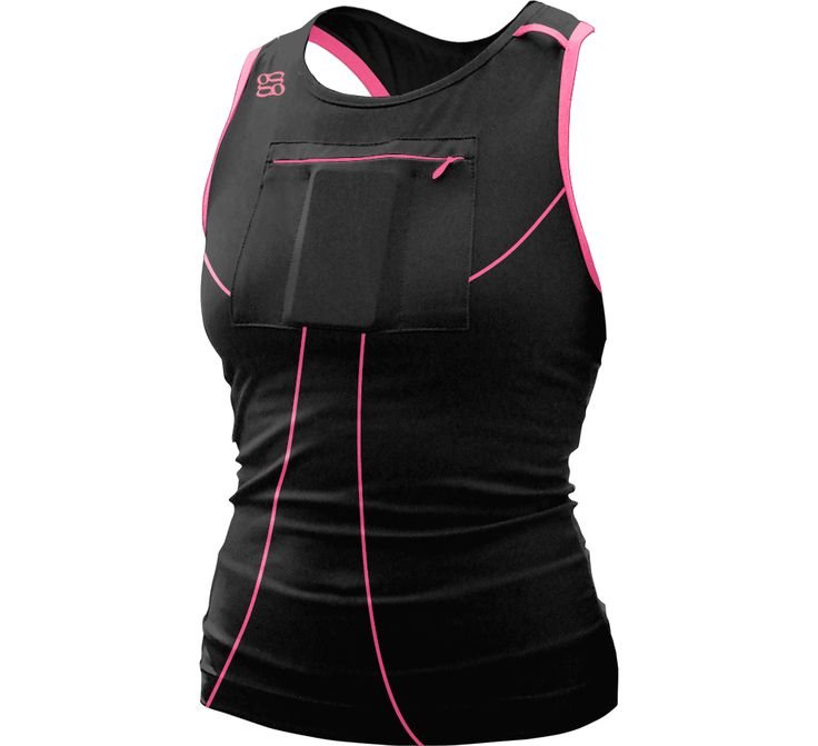 Gracie's Gear Long Tank with front media pocket   Gracie's Gear and Training $48