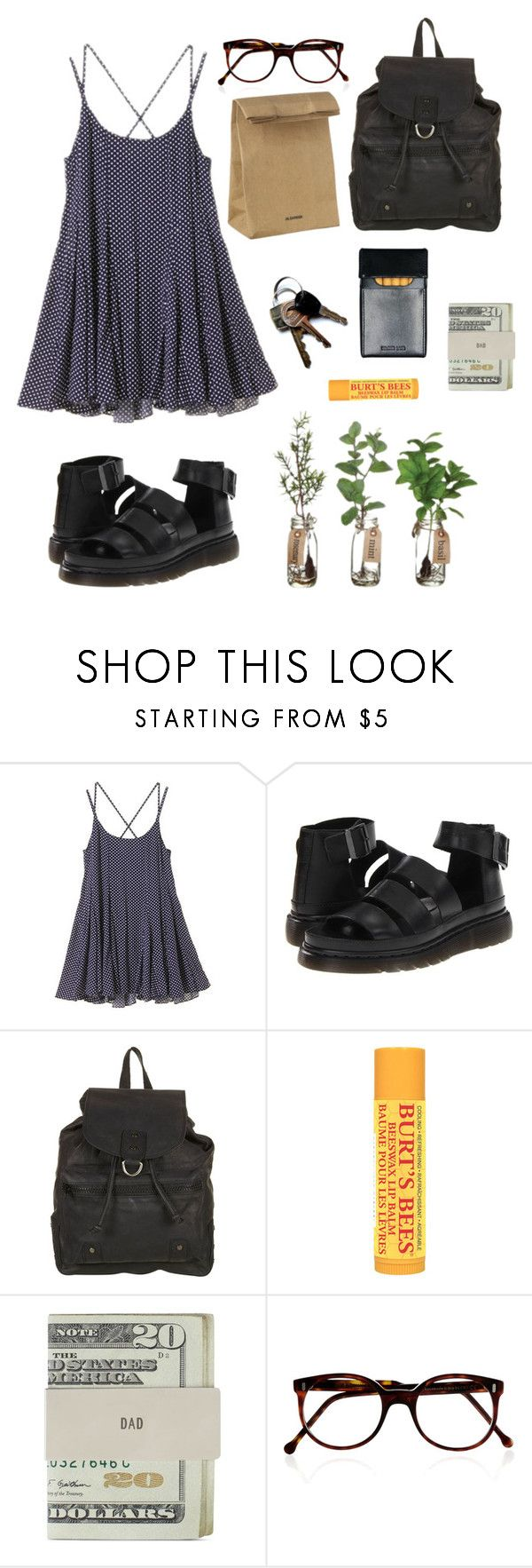 """""""wake me up when it's all over"""" by cubs ❤ liked on Polyvore featuring Dr. Martens, Burt's Bees, Jack Spade, Cutler and Gross and Jil Sander"""
