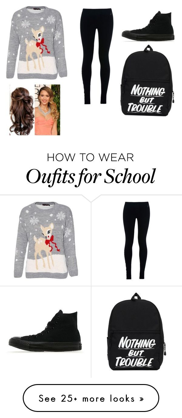 """School"" by asia-turbo on Polyvore featuring NIKE and Converse"