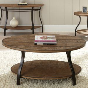 Steve Silver Denise Oval Light Oak Wood Coffee Table - Antique looks and a classic plank-style design make the Steve Silver Denise Oval Light Oak Wood Coffee Table a timeless beauty. Made of durable wood...