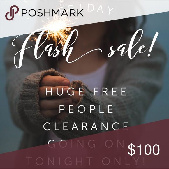 FREE PEOPLE SALE! Making room for new inventory! Hundreds of FREE PEOPLE listings on sale at their lowest prices! Get them before they're gone!! Free People Dresses