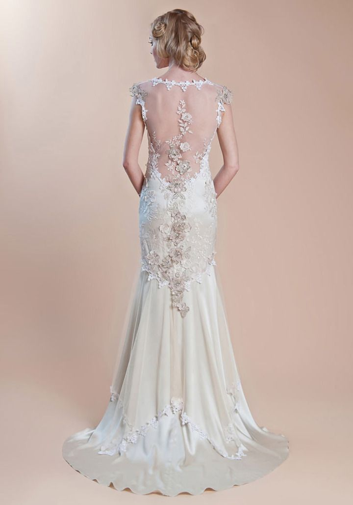 I really like the mermaid/trumpet silhouette dresses.   Claire Pettibone Wedding Dresses - MODwedding