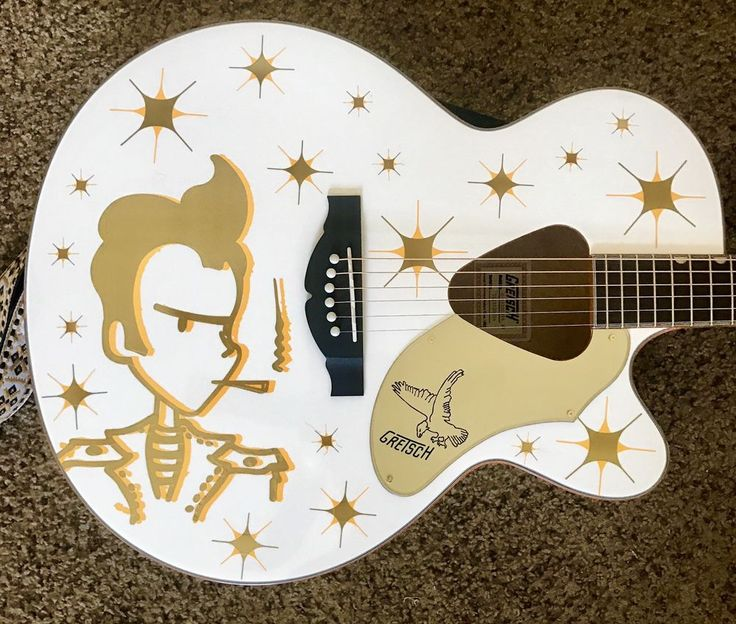 Gretsch White falcon acoustic guitar with built-in Fishman electronics and tuner, comes with a hardshell Gretsch case plays great! | eBay!