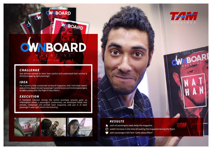 TAM Airlines Creates the Most Personalized Ownboard Magazine Guerilla Marketing Photo