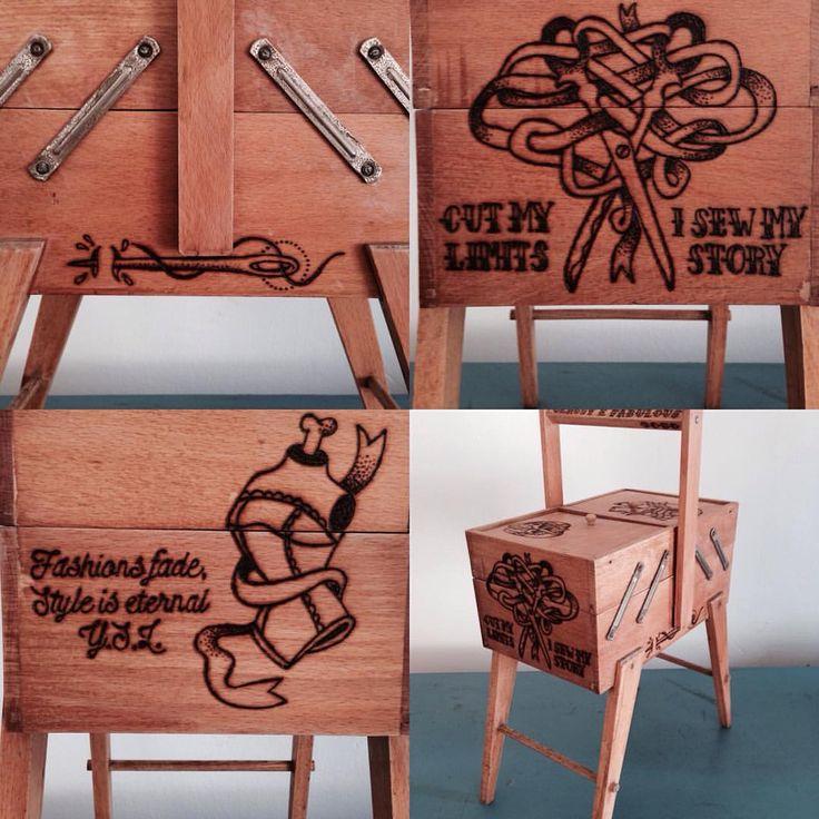 """ago e filò"" #slowdesignitaly #slowdesign #vintagefurniture #vintagedecor #vintage #tattookecca #pirograph #slowdesignobjects"