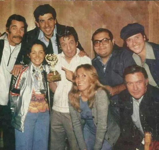 Don Ramon, profr. Jirafales, la Chilindrina, CHESPIRITO, Doña Florinda, Sr. Barriga (ñoño) Quico y Godinez.