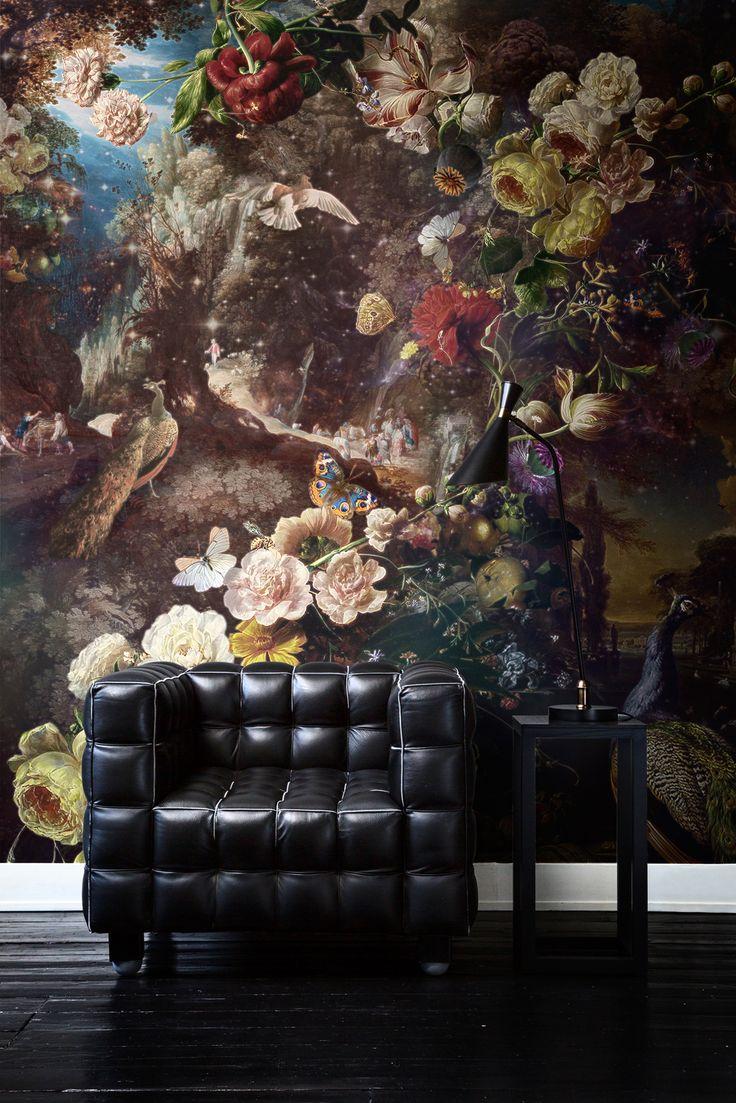 ... Kunst Behang op Pinterest - Muurontwerp, Ontwerp en Aquarel behang