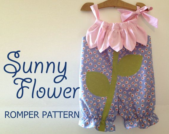 Sunny Flower  Pillowcase Romper Pattern. Girl by RubyJeansCloset, $7.95