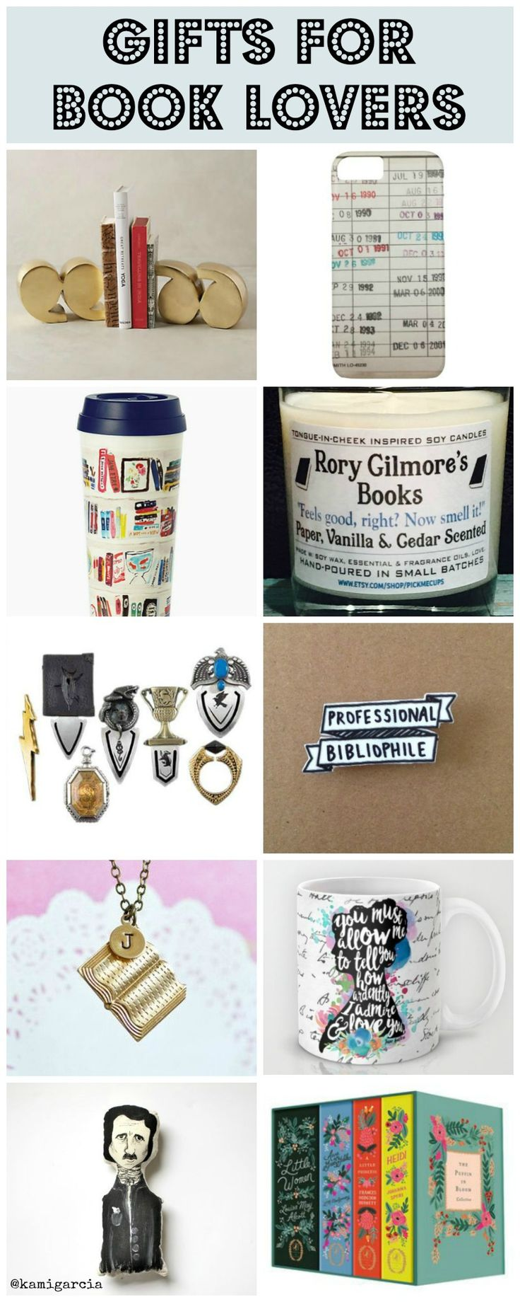If you're shopping for someone who likes to read or write, you can't go wrong with these gifts for book lovers. | Kami Garcia, kamigarcia.com