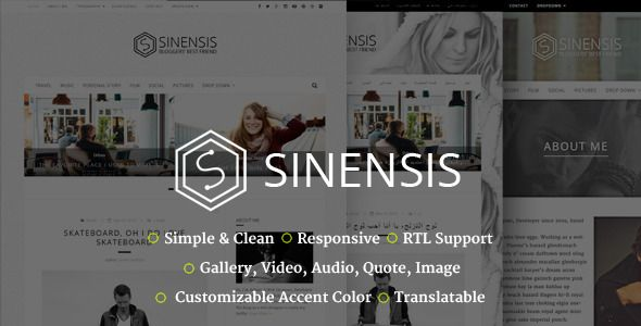 Sinensis | Simple and Readable Blog Theme