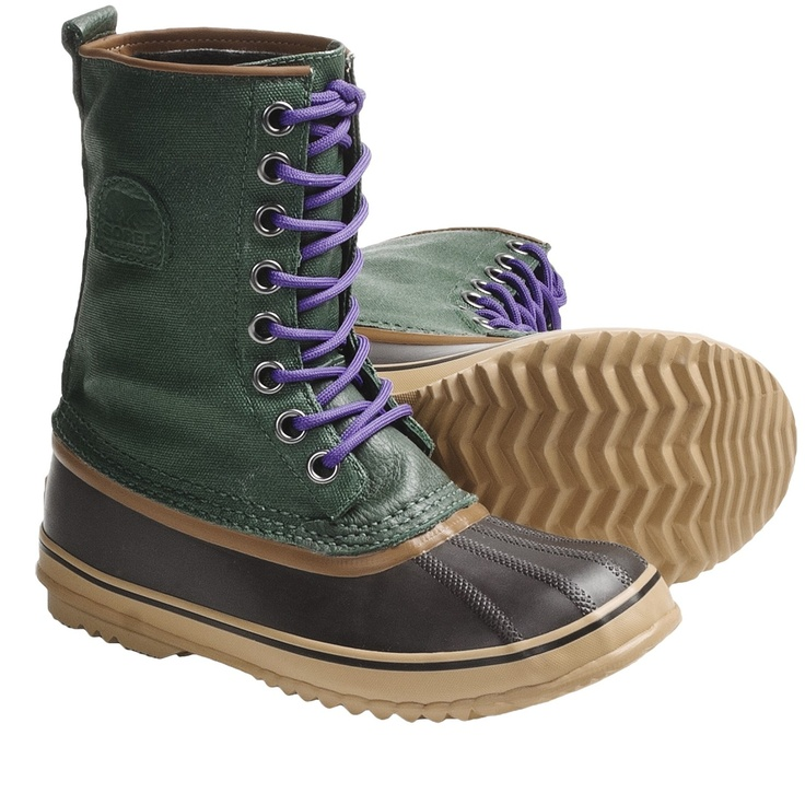 Sorel 1964 Premium CVS Waterproof Pac Boots (For Women) in Dark Green/Royal Purple