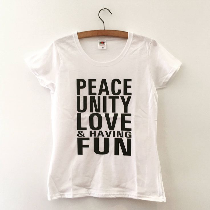 Womens Peace & Love fitted t-shirt by LucyChapmanPrints on Etsy #wordstoliveby