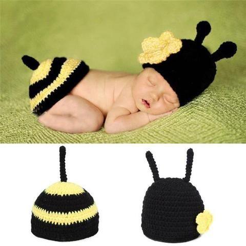Baby Bee Crochet Hats