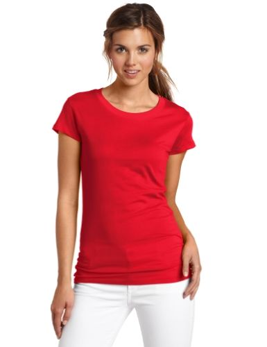 Dickies Girl Juniors Short Sleeve Crew Neck Tee,Red,Small  Special Offer: $8.99  466 Reviews 100% cotton solid cap sleeve tee shirt slim fit with dickies girl side tabCrew neck Tee, Slim SilhouetteShort SleeveSlim FitLightweight Jersey