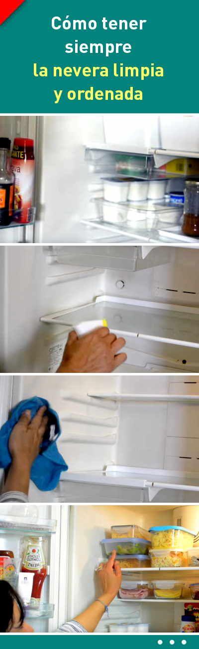 Cómo tener siempre la nevera limpia y ordenada #nevera #limpieza #consejos #orden