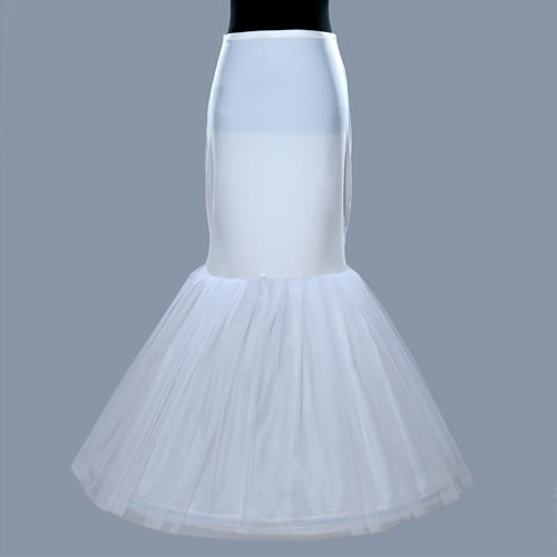 Crinoline petticoat bridal white mermaid style crinoline for Mermaid slip for wedding dress