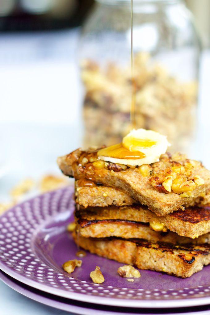 Banana-nut French toast: super desayuno