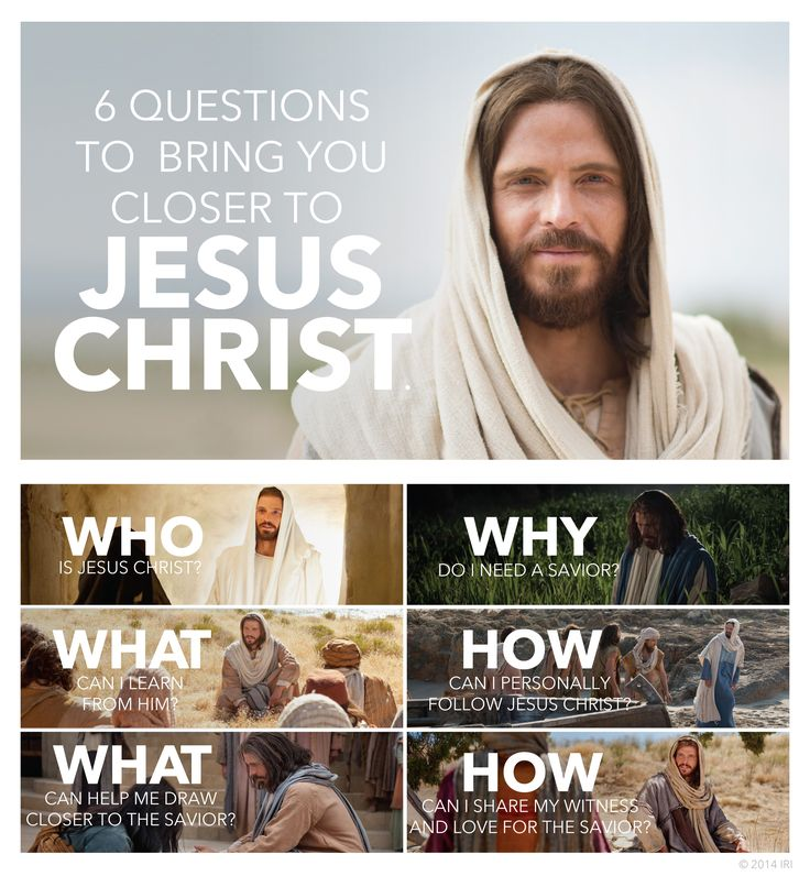 6 questions to bring you closer to Jesus Christ. Be good to do as a 6 week devotional