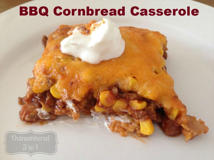 BBQ Cornbread Casserole
