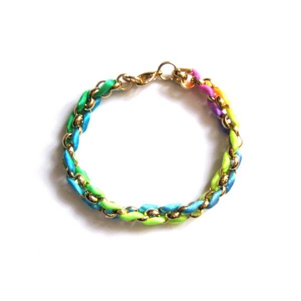 Neon Kumihimo Bracelet