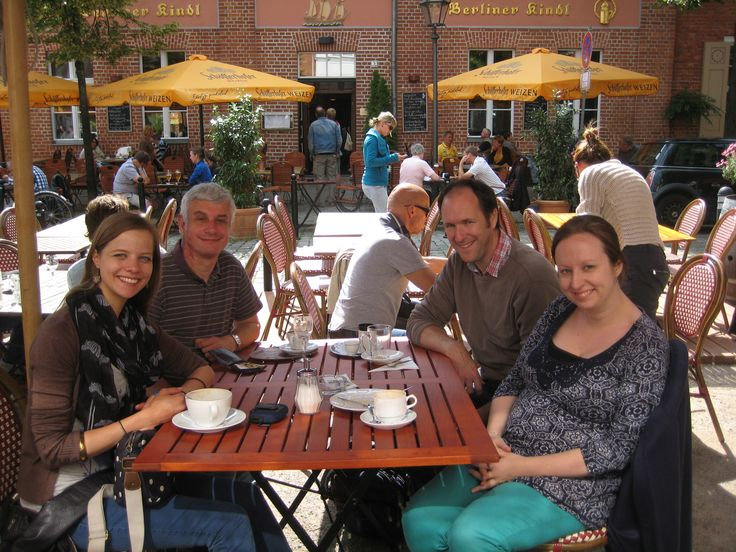 Anthony, Jon, Imogen and Jess, taking a *well-deserved* coffee/tea/hot chocolate/cake break in Potsdam!