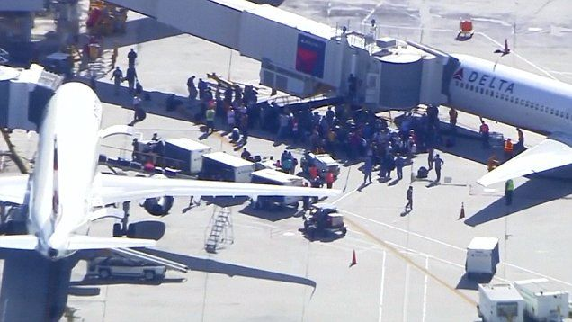 Panic and confusion at Ft Lauderdale airport after shooting.