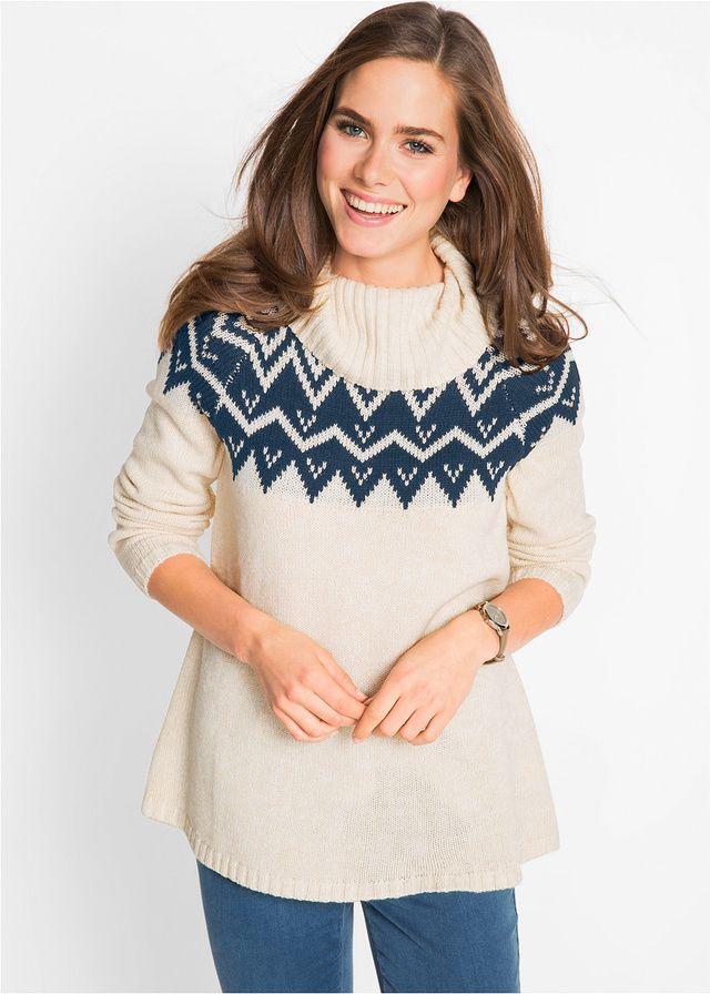 Sweter z golfem, długi rękaw Dł • 79.99 zł • bonprix