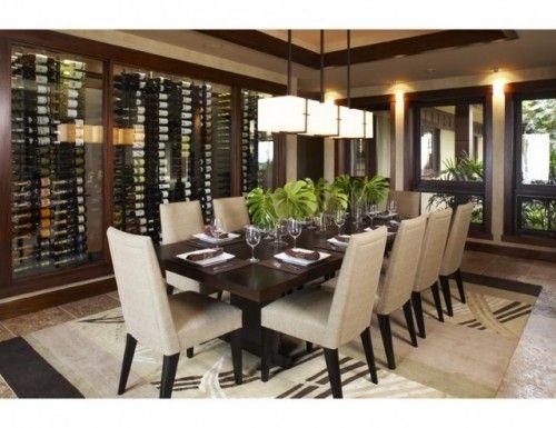Illumination - Salle à manger Asiatique - Hualalai Serenity - Dinng - Architecture