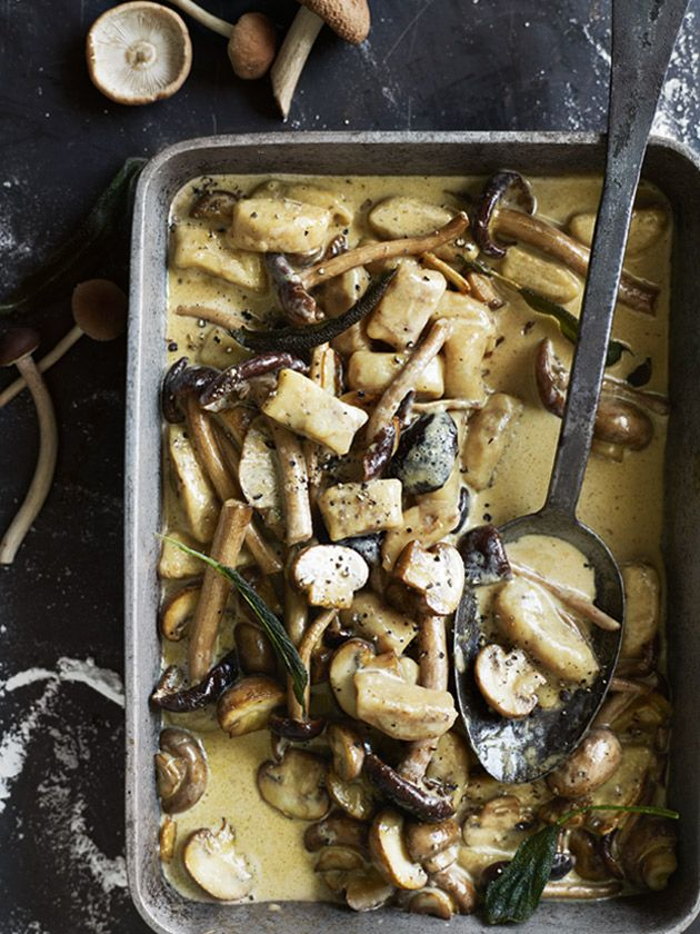 porcini gnocchi with creamy mushroom sauce from donna hay