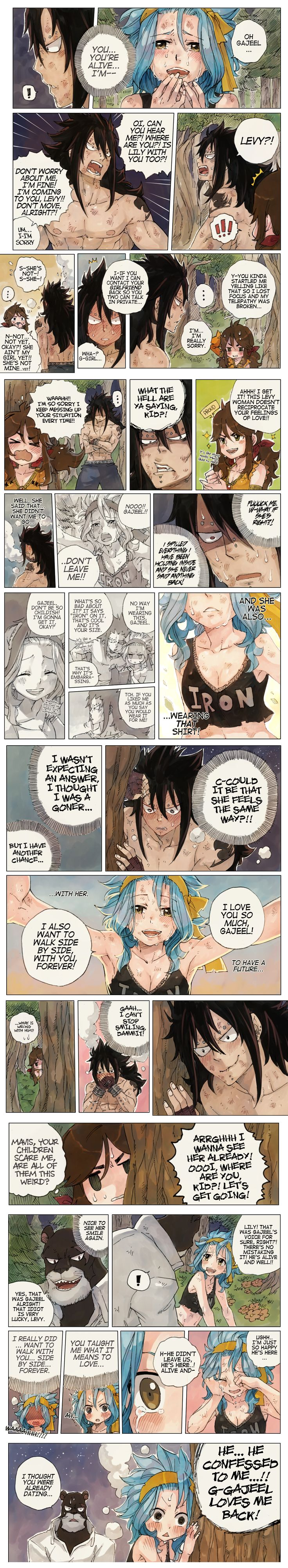 SKETCHY ❤ FLAVOR First off. Gajeel-sama! That is so cute. XD And secondly, Lily already thought they were dating. XD I love these comics.