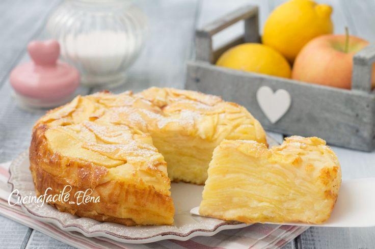 Gateau di mele torta di mele cremosa e profumata che si scioglie in bocca senza burro e senza olio