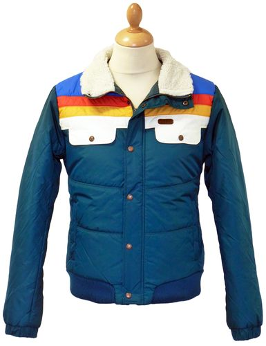 MADCAP ENGLAND Edge Retro 1970s Rainbow Stripe Ski Jacket ...