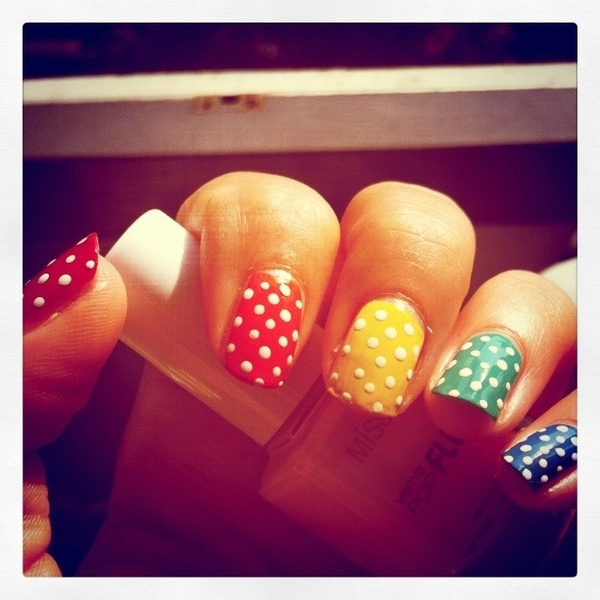 Simpele nagels #stipjes #nailart